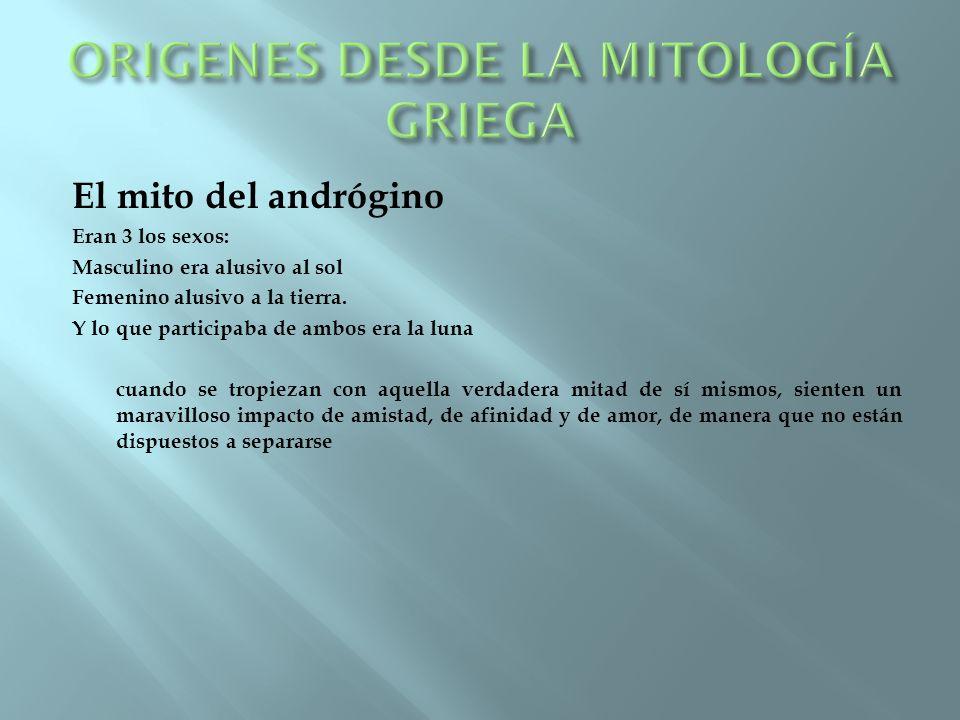 ORIGENES DESDE LA MITOLOGÍA GRIEGA