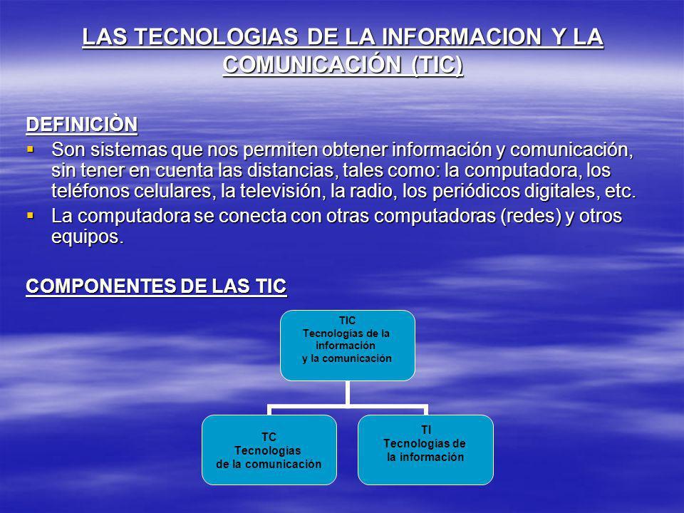 LAS TECNOLOGIAS DE LA INFORMACION Y LA COMUNICACIÓN (TIC)