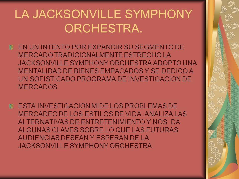 LA JACKSONVILLE SYMPHONY ORCHESTRA.
