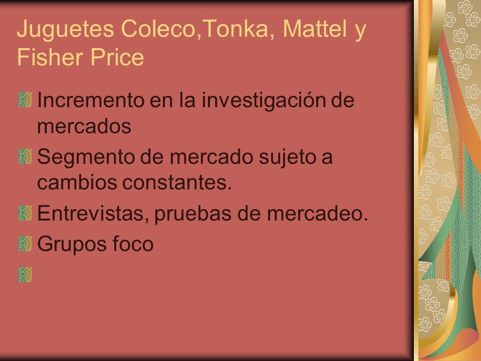 Juguetes Coleco,Tonka, Mattel y Fisher Price