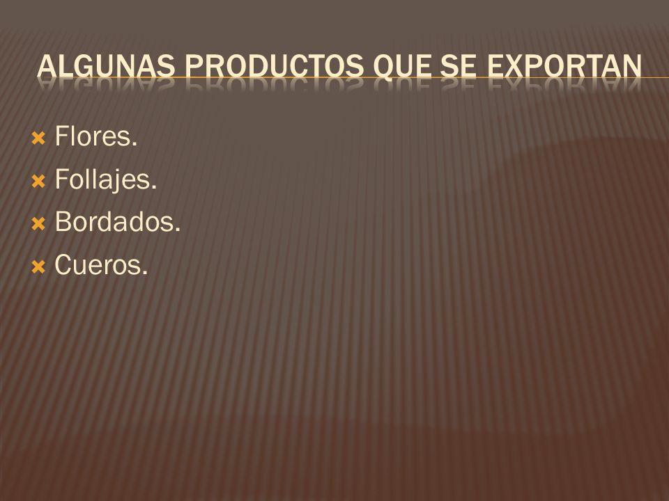 Algunas productos que se exportan