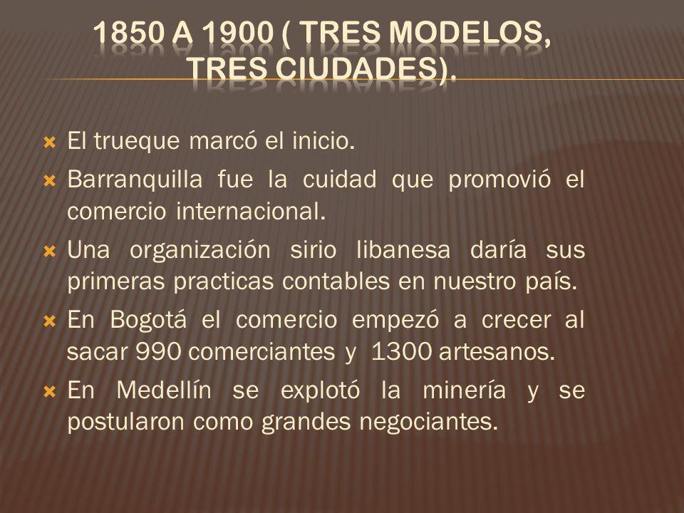 1850 a 1900 ( tres modelos, tres ciudades).