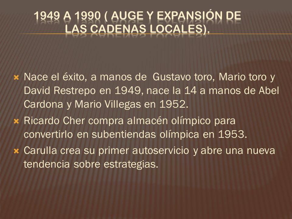 1949 a 1990 ( Auge y expansión de las cadenas locales).