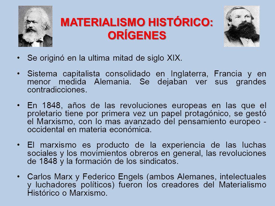 MATERIALISMO HISTÓRICO: ORÍGENES