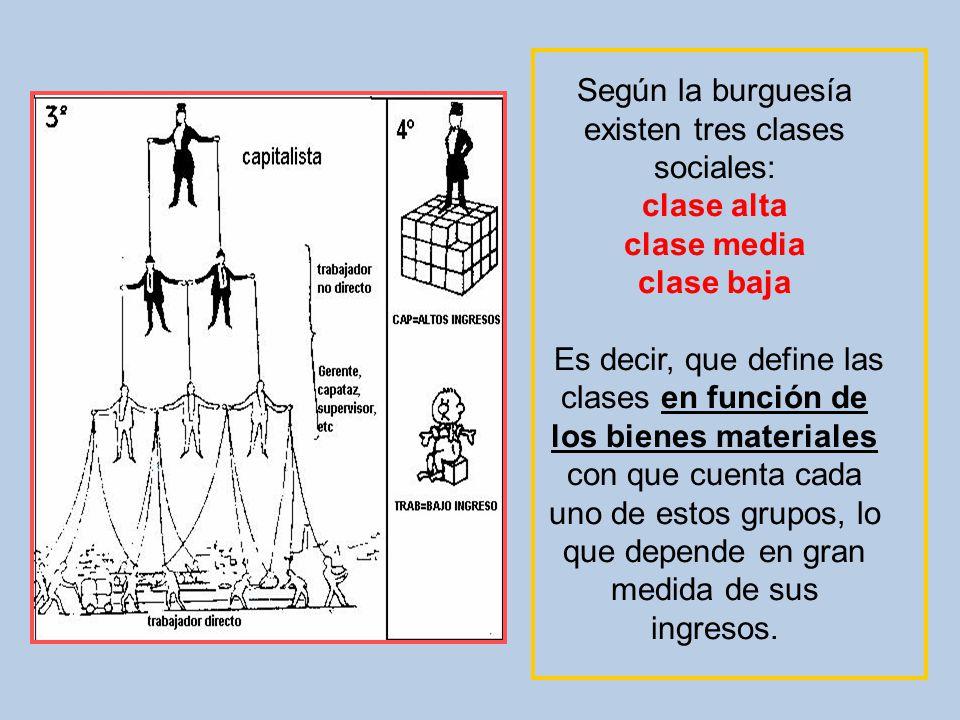 Según la burguesía existen tres clases sociales: