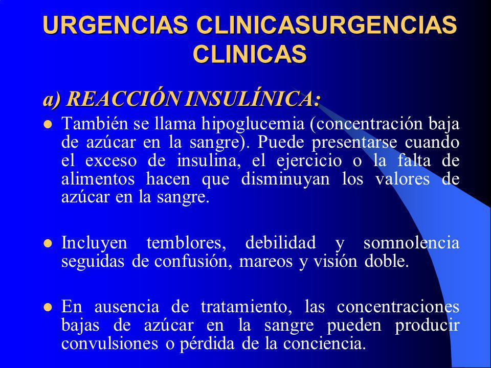 URGENCIAS CLINICASURGENCIAS CLINICAS