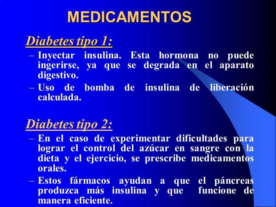 MEDICAMENTOS Diabetes tipo 1: