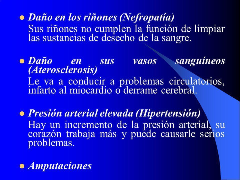 Daño en los riñones (Nefropatía)
