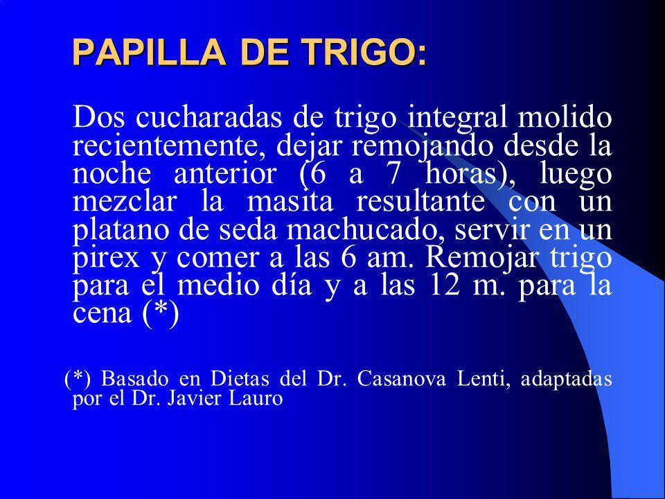 PAPILLA DE TRIGO: