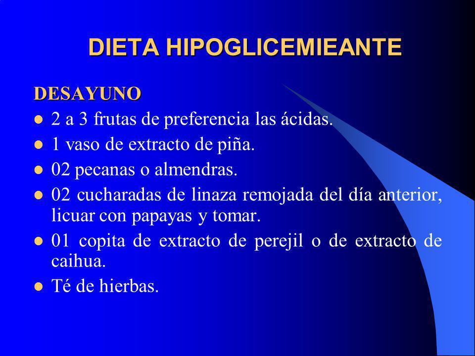 DIETA HIPOGLICEMIEANTE