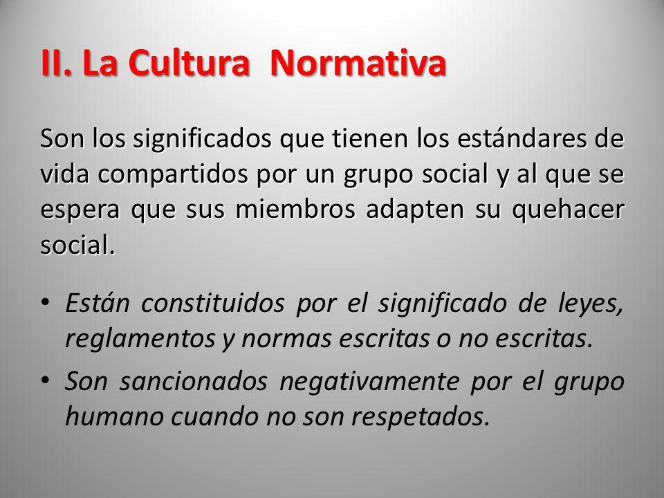II. La Cultura Normativa