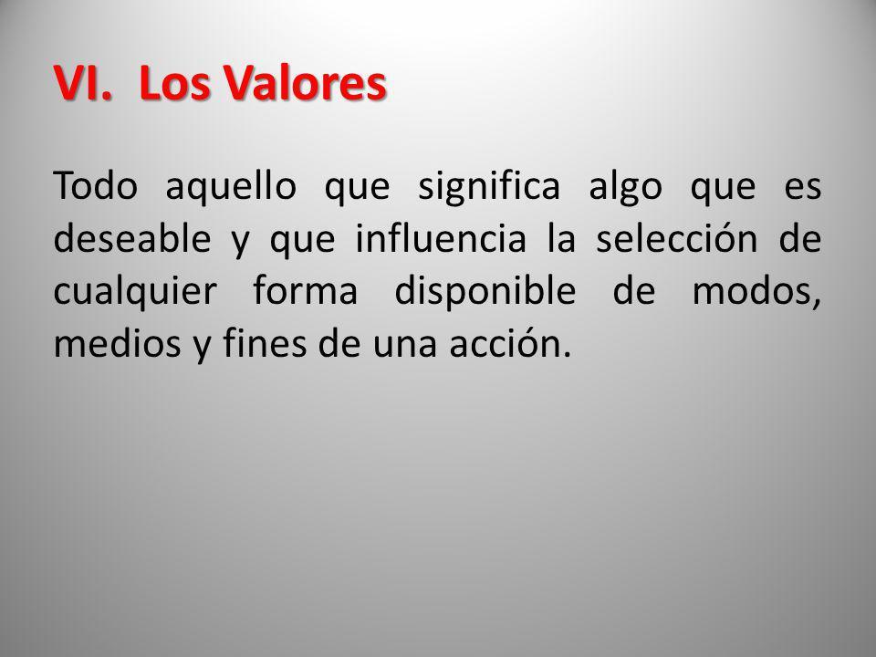 VI. Los Valores