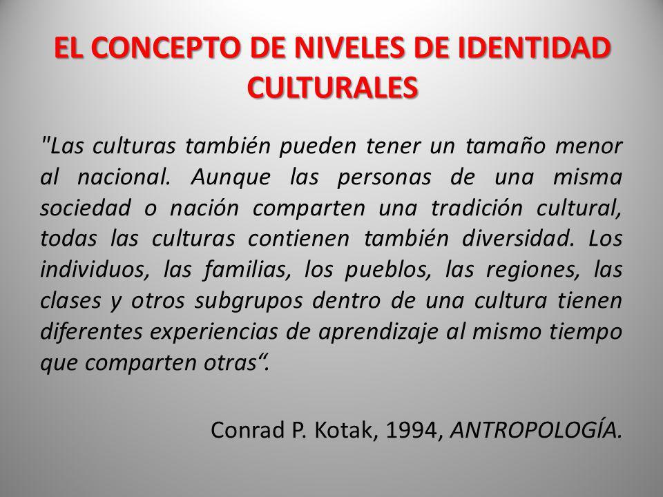 EL CONCEPTO DE NIVELES DE IDENTIDAD CULTURALES