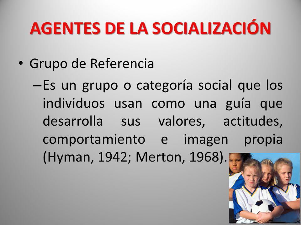 AGENTES DE LA SOCIALIZACIÓN