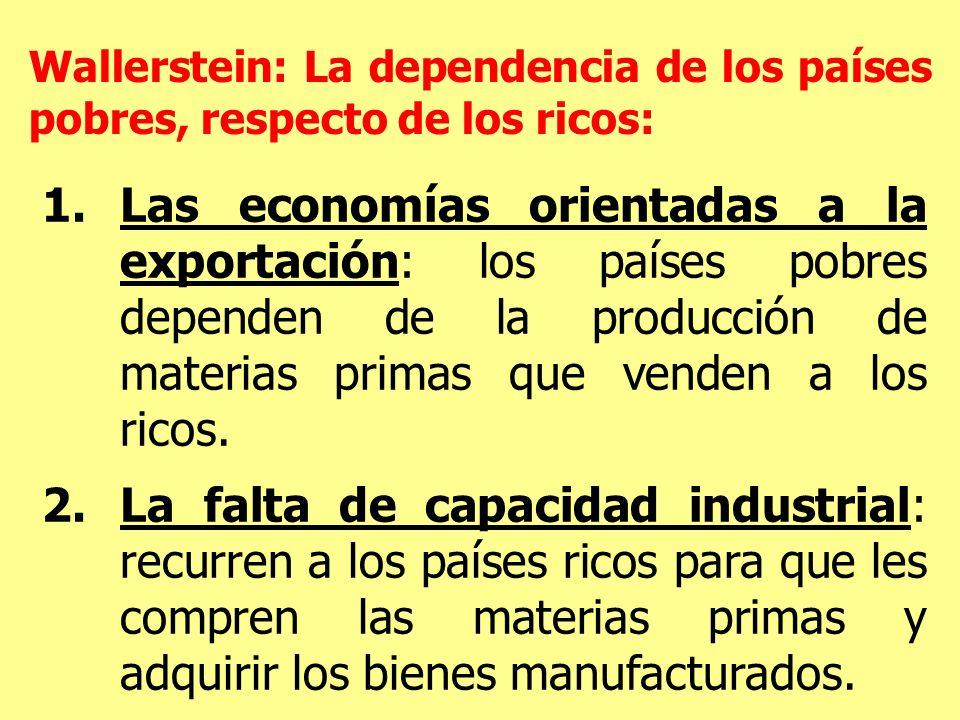 Wallerstein: La dependencia de los países pobres, respecto de los ricos: