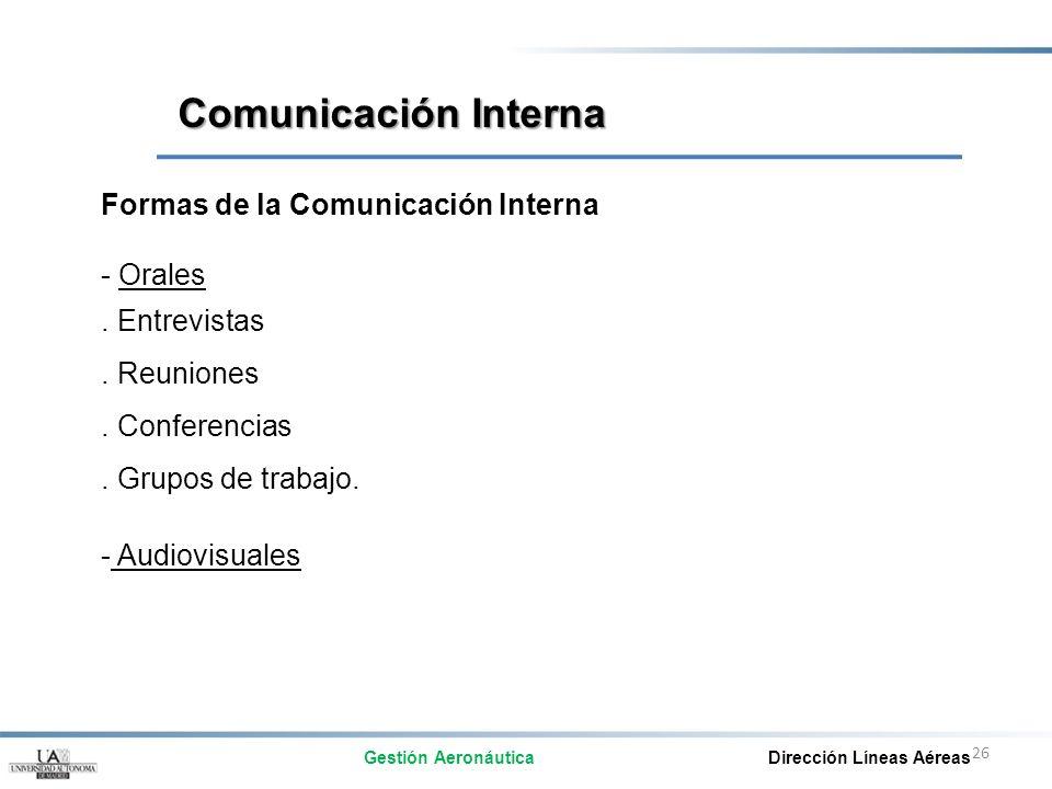 Comunicación Interna Formas de la Comunicación Interna - Orales