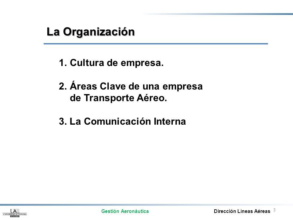 La Organización Cultura de empresa.