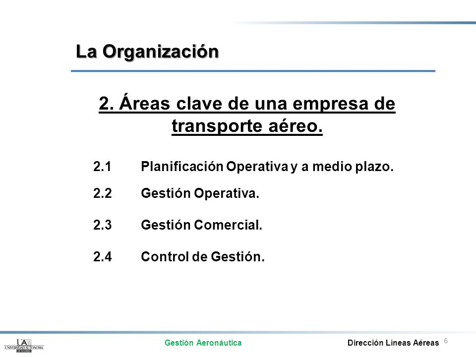 2. Áreas clave de una empresa de
