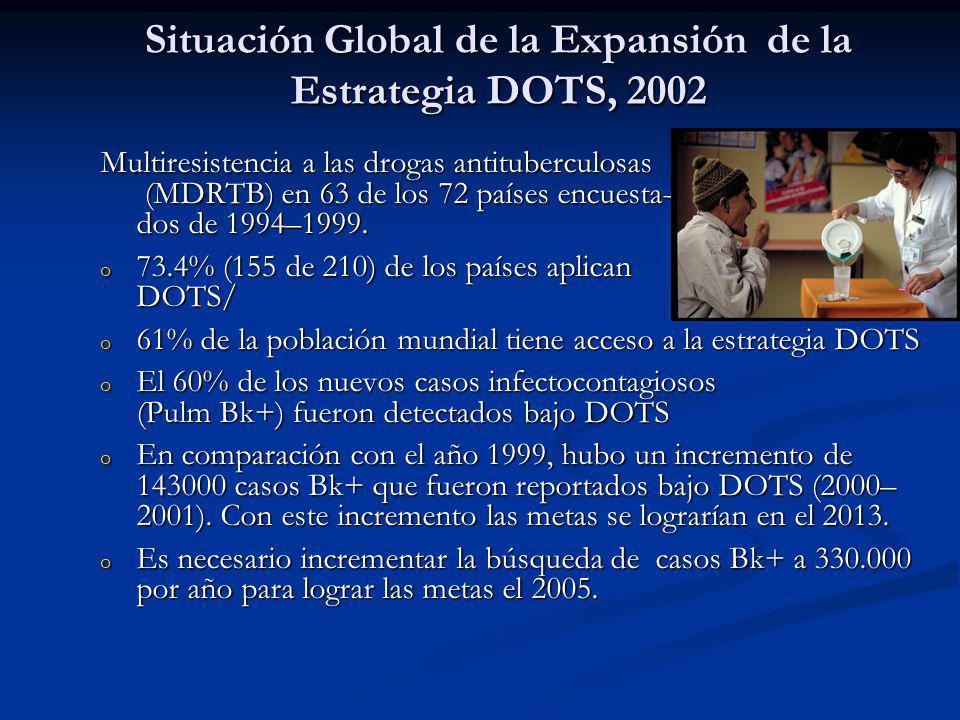 Situación Global de la Expansión de la Estrategia DOTS, 2002