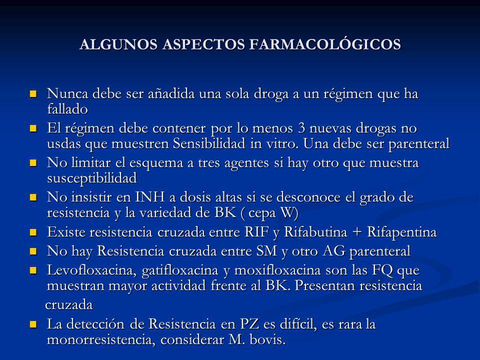 ALGUNOS ASPECTOS FARMACOLÓGICOS