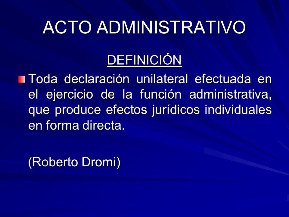 ACTO ADMINISTRATIVO DEFINICIÓN