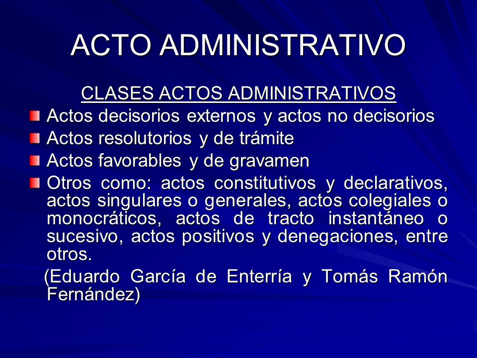 CLASES ACTOS ADMINISTRATIVOS