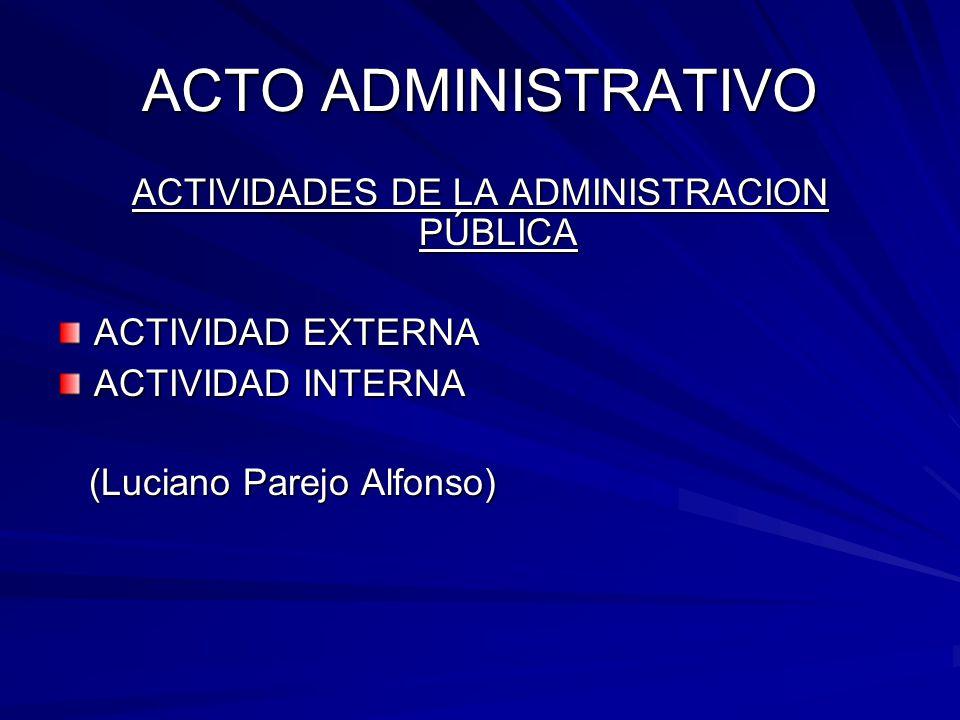 ACTIVIDADES DE LA ADMINISTRACION PÚBLICA