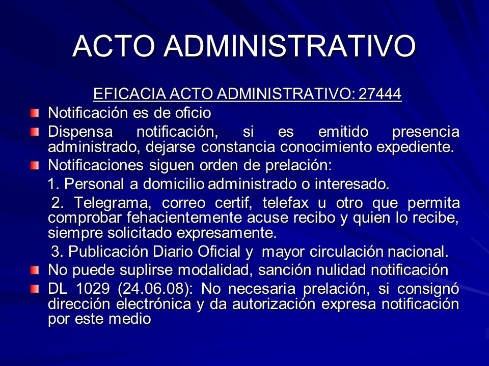 EFICACIA ACTO ADMINISTRATIVO: 27444