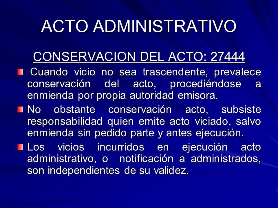 CONSERVACION DEL ACTO: 27444