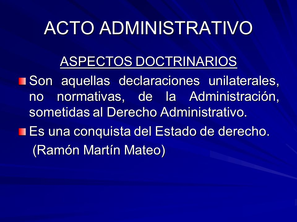 ASPECTOS DOCTRINARIOS