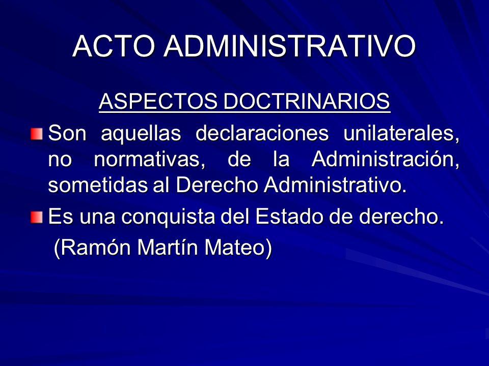 ASPECTOS DOCTRINARIOS