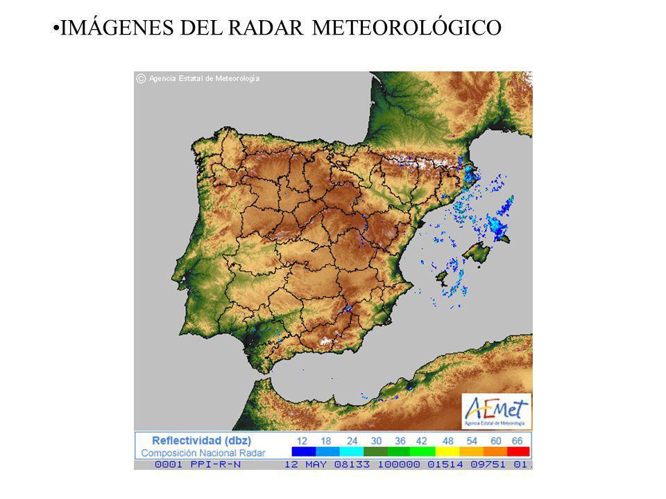 IMÁGENES DEL RADAR METEOROLÓGICO