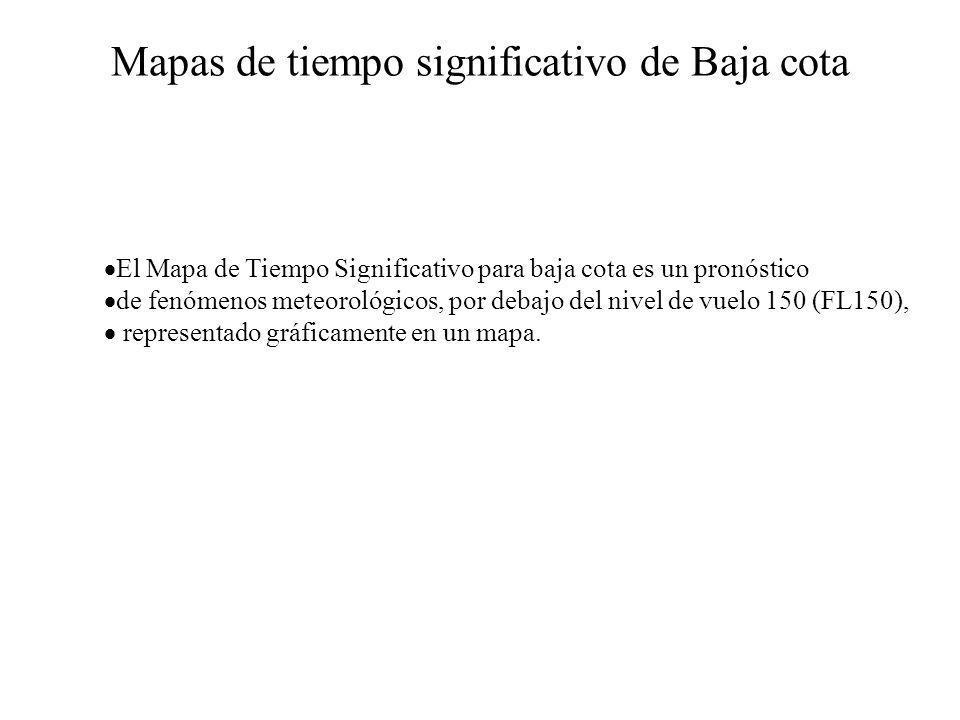 Mapas de tiempo significativo de Baja cota