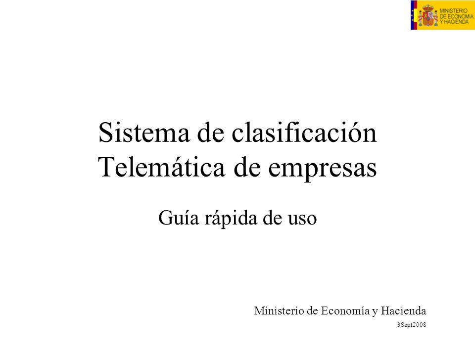 Sistema de clasificación Telemática de empresas
