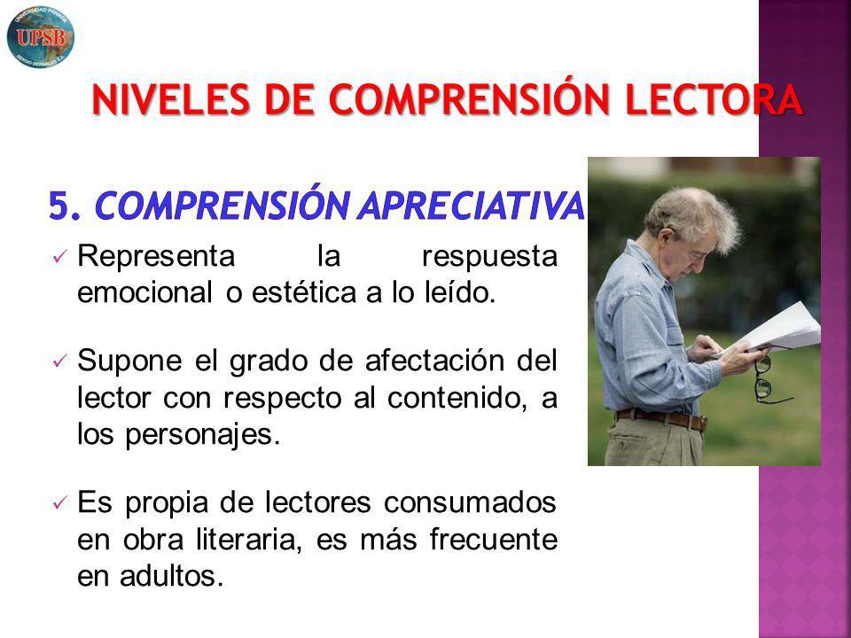 5. Comprensión apreciativa