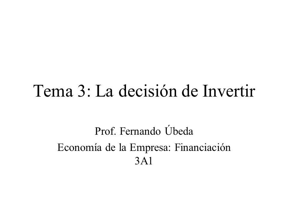 Tema 3: La decisión de Invertir