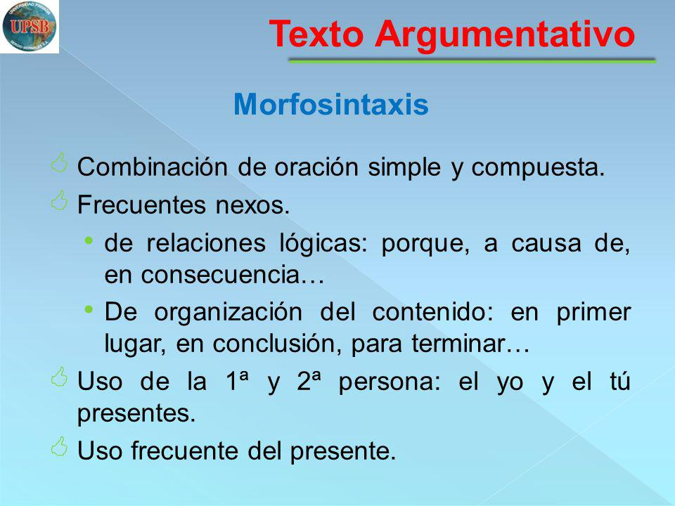 Texto Argumentativo Morfosintaxis