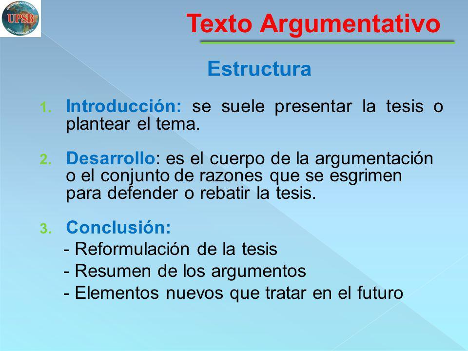 Texto Argumentativo Estructura