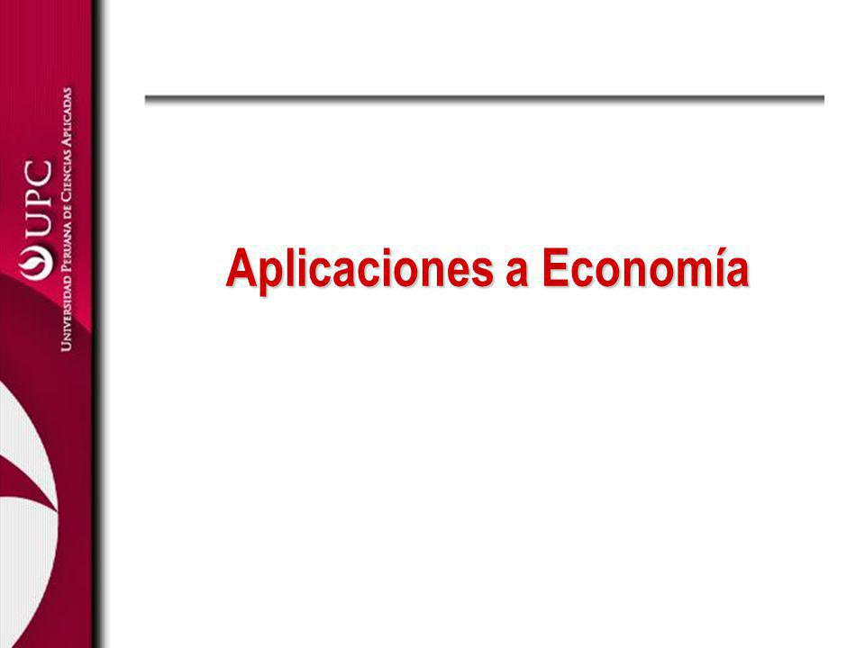 Aplicaciones a Economía