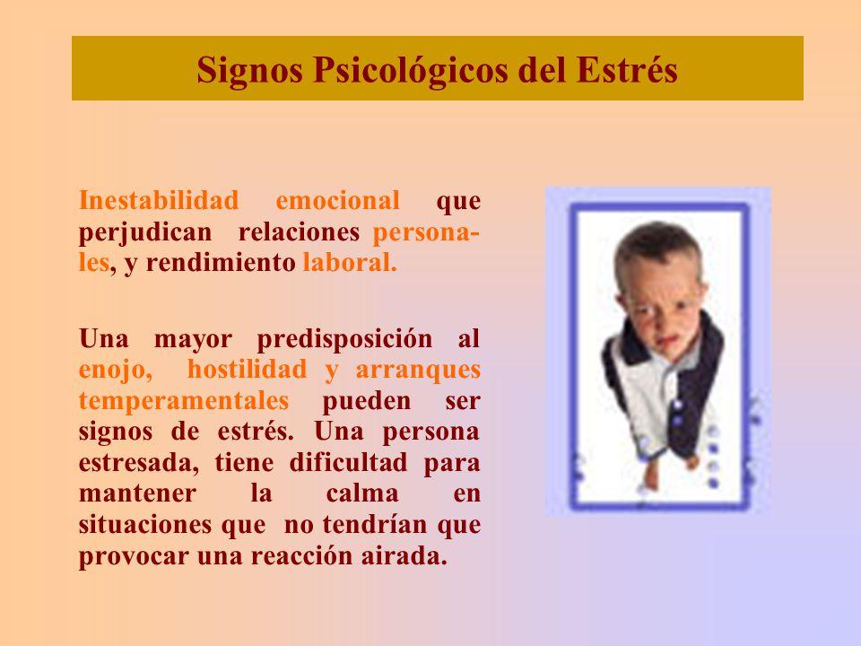 Signos Psicológicos del Estrés