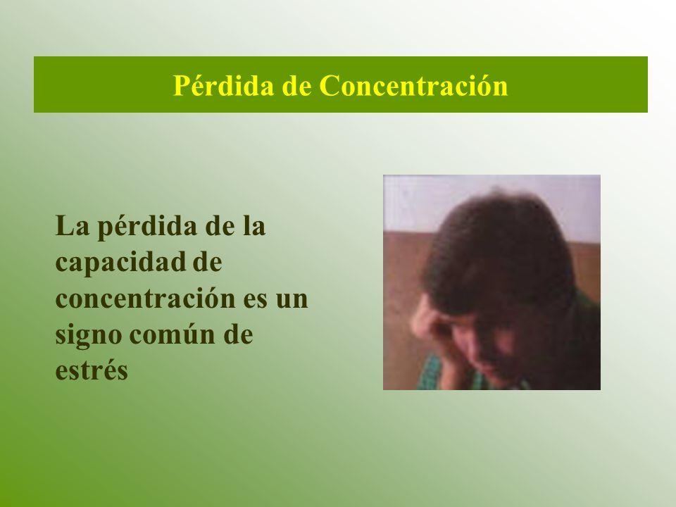 Pérdida de Concentración