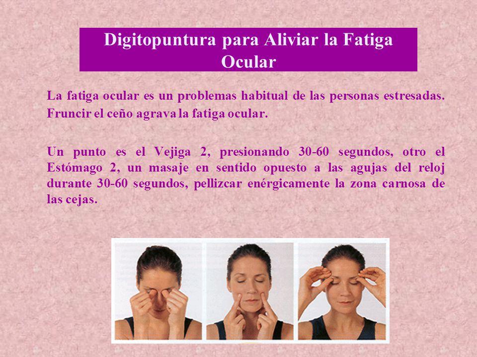 Digitopuntura para Aliviar la Fatiga Ocular
