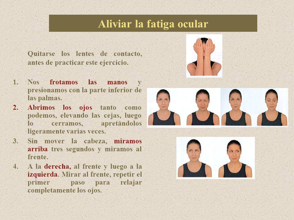 Aliviar la fatiga ocular