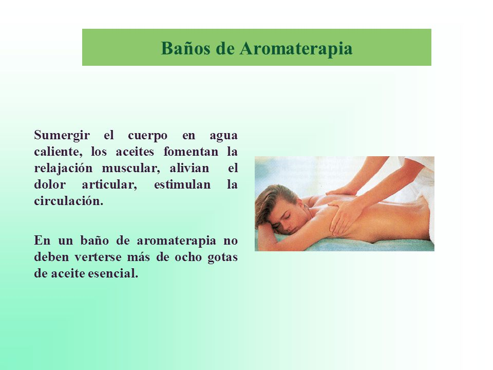 Baños de Aromaterapia