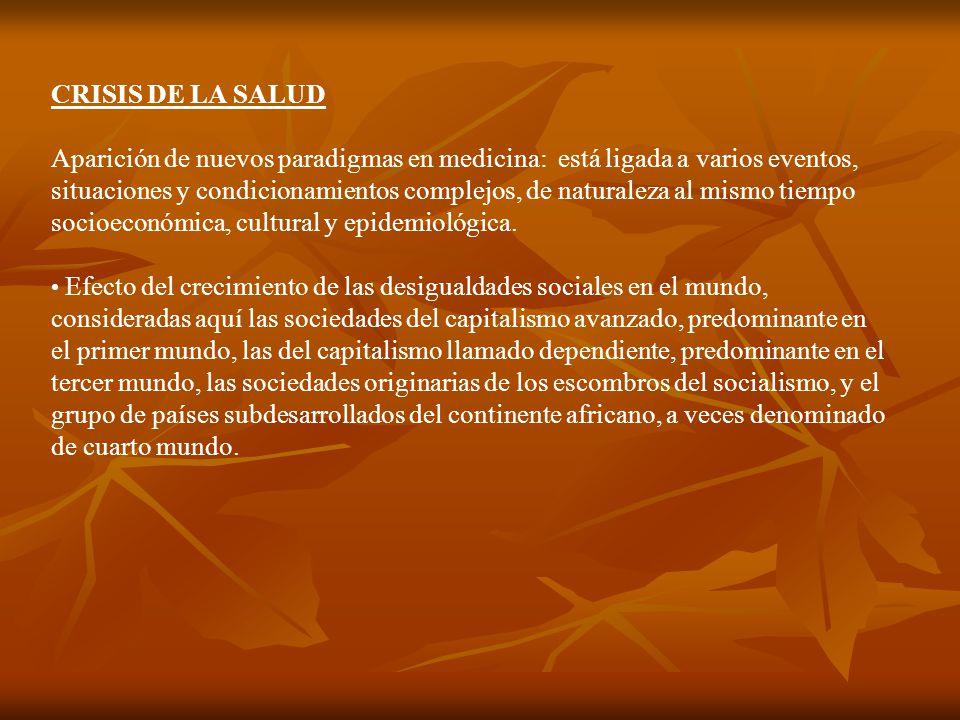 CRISIS DE LA SALUD