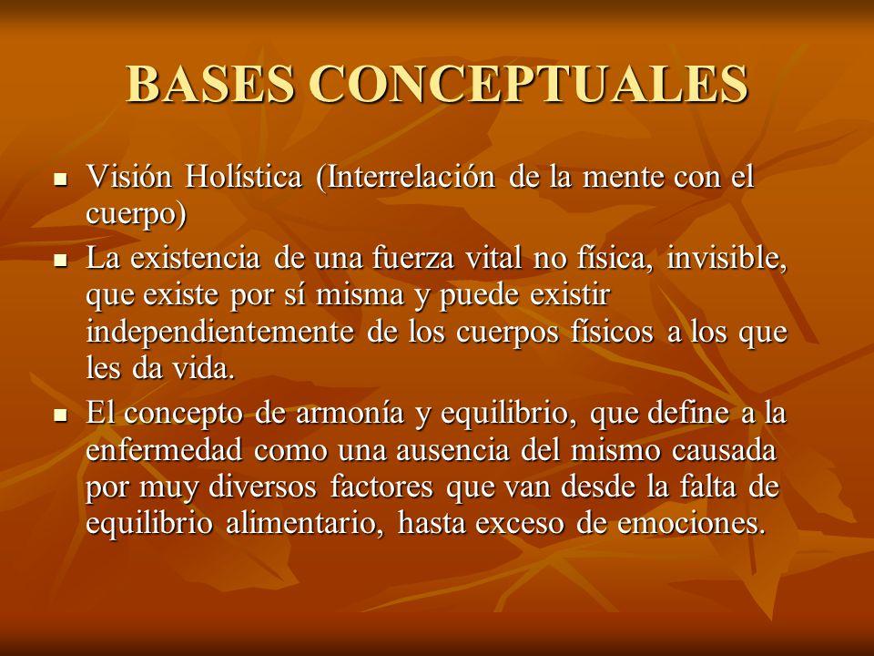 BASES CONCEPTUALES Visión Holística (Interrelación de la mente con el cuerpo)