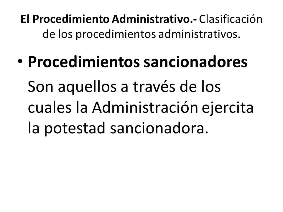 Procedimientos sancionadores