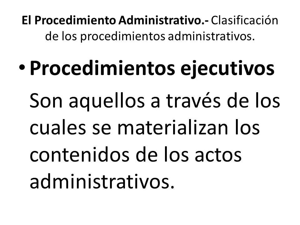Procedimientos ejecutivos