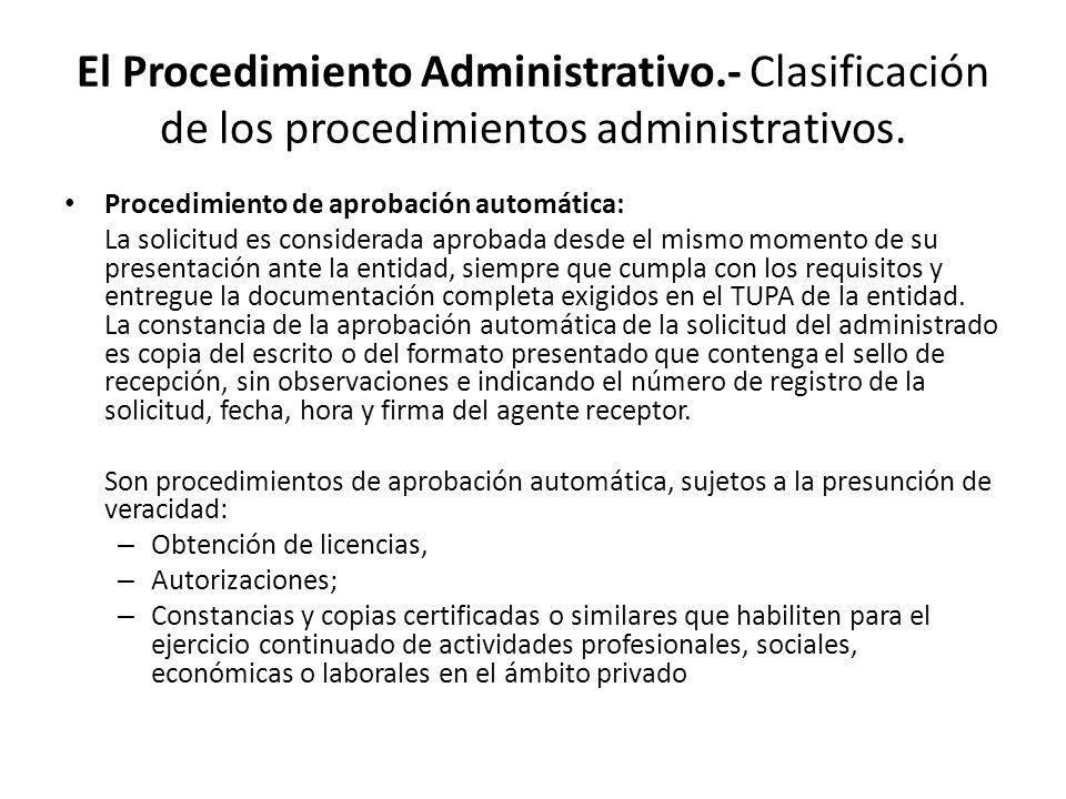 El Procedimiento Administrativo