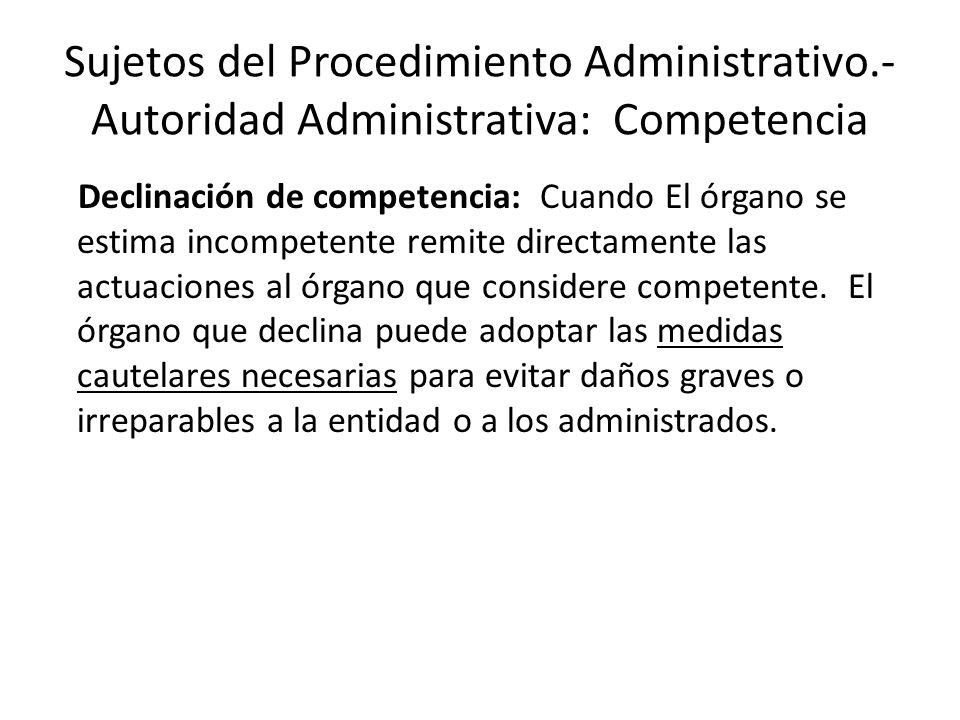 Sujetos del Procedimiento Administrativo